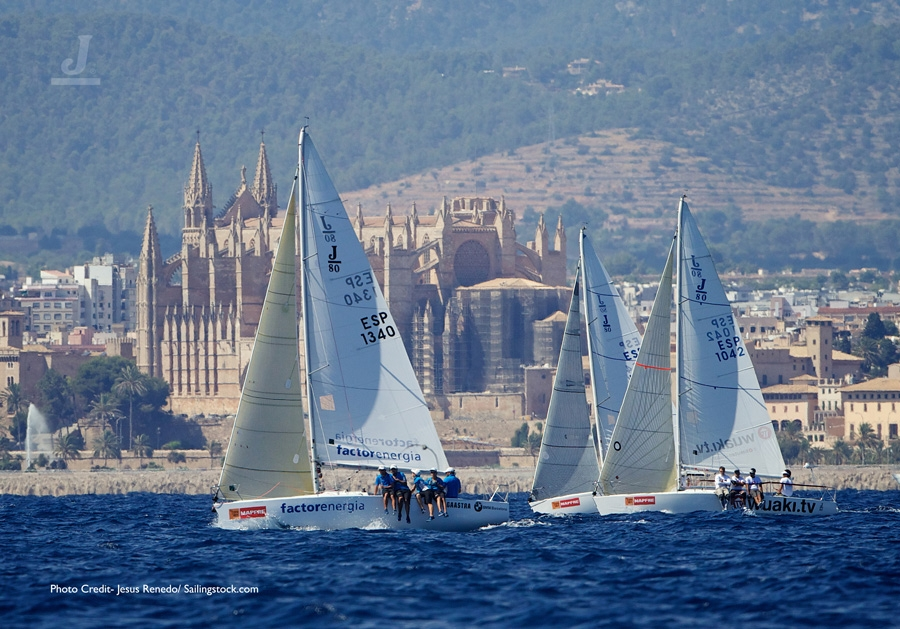 J/80s sailing off Palma Mallorca, Spain