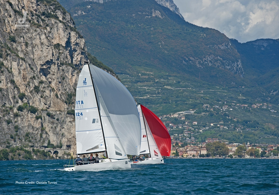 J/70s sailing on Lake Garda at EuroCup Regatta